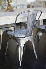 Metal Dining Room Chair Dining Chairs Appealing Galvanized Metal Dining Chairs Design