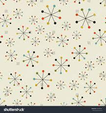 vector seamless mid century absctract geometric stock vector