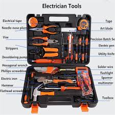 electrical toolbox manually household tool kit wrench screwdriver