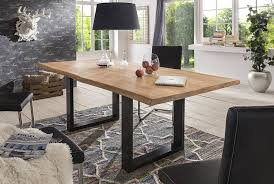 Esszimmertisch Naturkante Esstisch Wildeiche Massivholztisch Tisch Baumkante Eiche Esszimmer