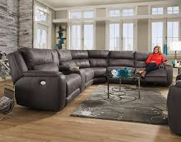 southern motion dazzle sectional sofa with 5 seats and cup holders