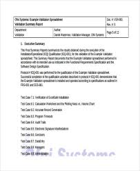 10 validation report templates free sample example format