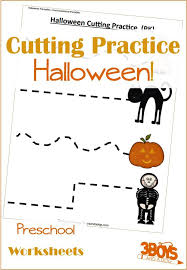 halloween printables cutting practice u2013 3 boys and a dog