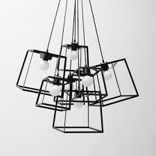 Geometric Pendant Light by Aliexpress Com Buy Modern Cube Box Frame Pendant Light 1 Light