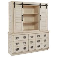 Office Hutch With Doors Magnolia Home By Joanna Gaines Farmhouse Hutch With Sliding Barn