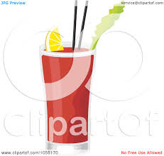cosmopolitan drink clipart royalty free vector clip art illustration of a bloody mary