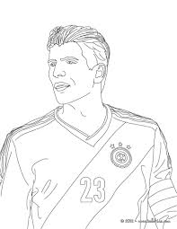 mario gomez german football player coloring pages hellokids com