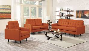Orange Living Room Set Kesson Orange Living Room Set From Coaster Coleman Furniture