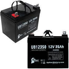 2 pack pride mobility scooter battery ub12350 12v 35ah sealed lead