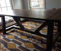 rustic farmhouse style dining table 4 steps