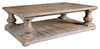 Uttermost Table Uttermost Stratford Rustic Cocktail Table Traditional Coffee