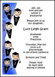 preschool graduation invitations abcs counting kindergarten preschool graduation invitations 7465gcs ks