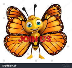 3d rendered illustration butterfly cartoon character stock