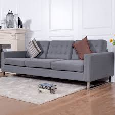 costway 3 seat sofa couch fabric upholstered tufted living room