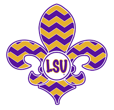 lsu alumni sticker lsu tigers fleur de lis tiger 4 vinyl decal car truck sticker