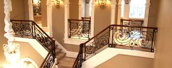 stairs inspiring wrought iron stair railings interior exciting