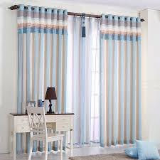 1 pc bleu é stores rideaux pour chambre moderne enfants