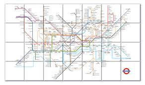 Tube Map London Ceramic Map Tiles London Underground Map From Love Maps On