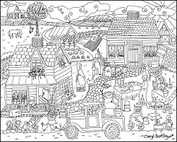 tag sale at old farm house coloring page cherylbartleydesigns