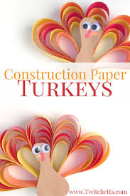 construction paper turkey craft thanksgiving fun turkey craft