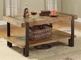Metal Top Coffee Table Coffee Table Inspire Design Metal Wood Coffee Table Reclaimed