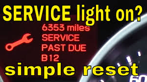 how to reset the service light on acura tl 09 2010 2011 2012