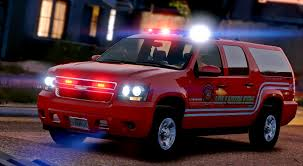 chevrolet suburban red los santos fire department chevrolet suburban els gta5 mods com