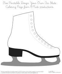 best photos of boot ice skate coloring page ice skate coloring