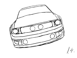 mustang gt coloring page free download
