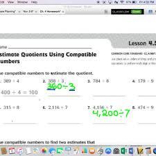 4 5 estimating quotients using compatible numbers teachertube