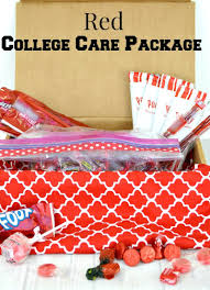 Care Packages For College Students Red College Care Package Idea Organized 31
