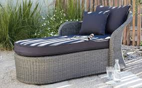 Design Garden Furniture London by Comoro Rattan Effect Sunlounger Coastal Exterior London By B U0026q