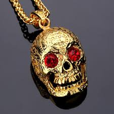crystal rock pendant necklace images Nyuk fashion jewelry skeleton punk rock mexican tattookull pendant jpg