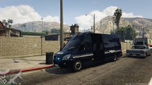 bmw sprinter van danish mercedes benz sprinter police skin gta5 mods com