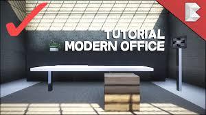 Minecraft Interior Design by Minecraft Modern Office Tutorial Interior Design Series Ep4
