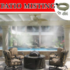 pre assembled diy patio kit for instant fine mist backyard cooling