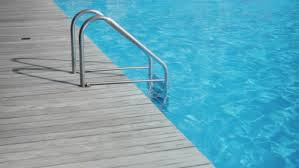 Swimming Pool Handrails Handrails To Stairs Leading To Swimming Pool Undulating Surface