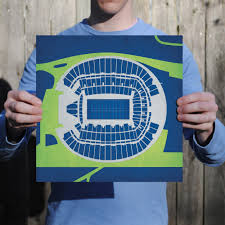 Centurylink Field Map Centurylink Field Map Art City Prints