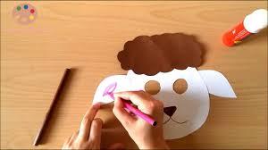 making lamb mask for preschool children youtube