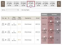booking etihad first apartment using aadvantage miles travelling