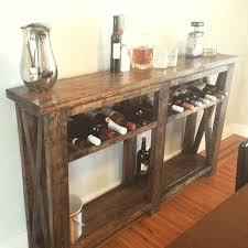 sofa table with wine rack wine racks tables kyubey