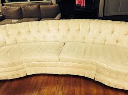Tufted Vintage Sofa The Best Of Craig Curved Vintage Cream Tufted Couch Domicile 37