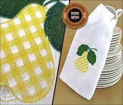 gingham fruit machine applique kitchen towels aurifil 80wt thread