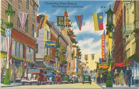 San Francisco Chinatown Map by Leaping Frog Designs Vintage Chinatown Postcards San Francisco