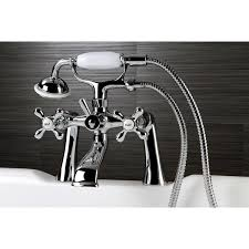 Clawfoot Tub Faucet With Shower Victorian Deck Mount Clawfoot Chrome Tub Faucet With Hand Shower
