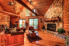 rustic living room with hardwood floors metal fireplace in