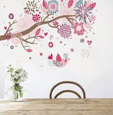 sticker mural chambre fille sticker mural lapin faon et arbre motif enfant fille stickers