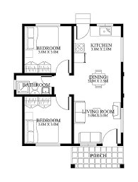 single story small house plan floor area 48 square meters