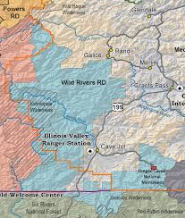 Oregon River Map by Rogue River Siskiyou National Forest Offices