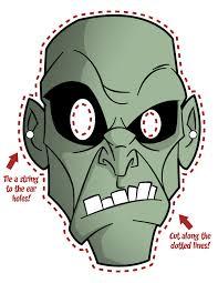 halloween template printable zombie mask jpg 2550 3300 halloween pinterest
